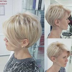 short bob hairstyles 2019 - Cute Short Haircuts for Thick Hair - Frauen Haare Style Short Hairstyles For Thick Hair, Cute Short Haircuts, Haircut For Thick Hair, Short Hair With Bangs, Pixie Haircut, Short Hair Cuts, Easy Hairstyles, Curly Hair Styles, Thick Haircuts