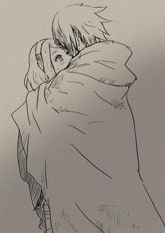 Sasuke and Sakura.. I just think that this shows a very kind and pure side of sasuke