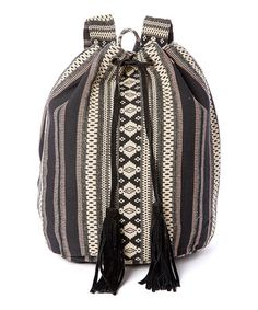 This Black & White Geometric Bucket Backpack is perfect! #zulilyfinds
