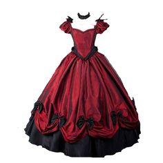 Lanrui Lolita Cosplay Kleid Dress Kostüm Party costume Vintage Retro Gothic Ball Lang Nach Maß: Amazon.de: Bekleidung