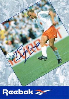88284aa6b1178a Dennis Bergkamp of Holland in 1994 Reebok advert.