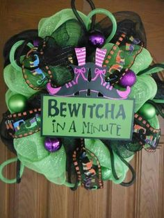 Bewitcha in a Minute Halloween Wreath