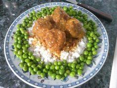 Albondigas Grains, Rice, Food, Meals, Deserts, Essen, Seeds, Yemek, Laughter
