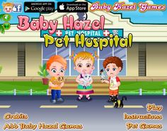 Baby Hazel and her friends need your help to treat their injured pets. Can you help them to take the pets to the hospital and keep them relaxed during the treatment? http://www.babyhazelgames.com/games/baby-hazel-pet-hospital.html