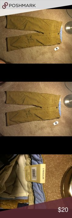 NWT GAP Kids Corduroys New with retail tags still attached and in perfect condition. GAP kids size 6 regular toffee ucorduroy pants with button flap back pocket closures and slit pockets in front. Zipper button closure. No flaws! GAP Bottoms Casual