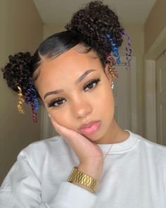 Natural Hair Styles: Afro Puffs