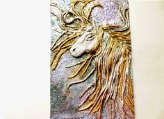 Horse Journal Cover Diary Cover Door Plaque by DahkeiyJewellery