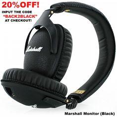 Marshall Headphones, Deal Sale, Over Ear Headphones, Monitor, Black, Black People