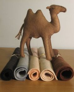 JenMeister: Wool felt camel (with book recommendation) Sew Soft Toys