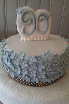 Nanny's 90th birthday cake