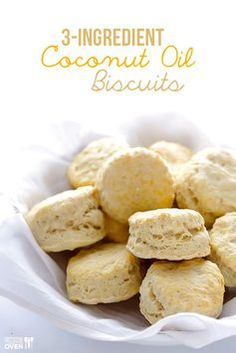 3 Ingredient Coconut Oil Biscuits | gimmesomeoven.com