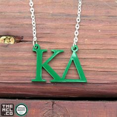 Greek Licensed Letters Necklace by TheMCL.co – Kappa Delta