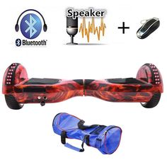 Red 6.5 inch Self Balancing Bluetooth Hoverboard