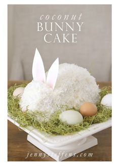 Easter Cakes, Easter Bunny Cakes, Cute Easter Cakes, Easter Coconut Cake and Easter Egg Cakes! Check out these beautiful and cute Easter Cakes! Easter Cake Easy, Easter Bunny Cake, Hoppy Easter, Easter Treats, Easter Eggs, Bunny Cakes, Bunny Birthday Cake, Easter Food, Easy Easter Recipes
