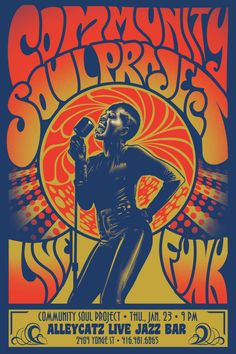 poster Community Soul Project gig poster on Behance Gig Poster, Concert Posters, Festival Posters, Rock Posters, Band Posters, Psychedelic Typography, Psychedelic Art, Music Drawings, Music Artwork