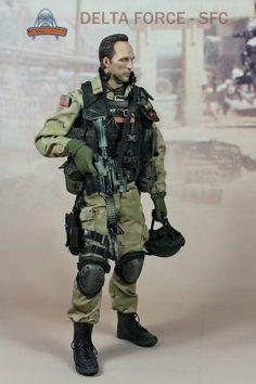 c66e9fee5497f (U) 1 6 Art Figures AF-006 Delta Force - SFC Black Hawk Down Male Action  Figure  ArtFigures