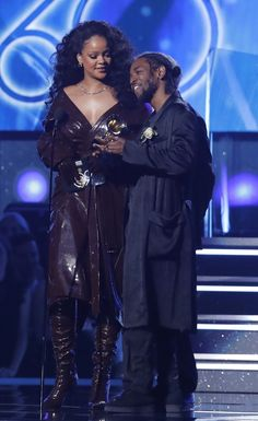 January 28: Rihanna and Kendrick Lamar accept Best Rap/Sung Performance for 'Loyalty' at the 60th Annual Grammy Awards
