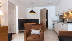 - designer suite one bedroom One Bedroom, Lodges, Divider, Mountain, Living Room, Table, Furniture, Design, Home Decor