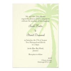 Simple Palm Tree Wedding Invitation This Dealstoday easy to Shops & Purchase Online - transferred directly secure and trusted checkout...