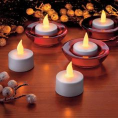 Rechargeable Tea Light Candles for the Holidays