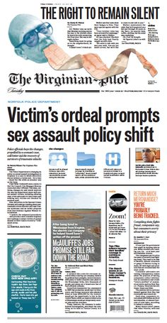 The Virginian-Pilot's front page for Tuesday, Aug. 13, 2013.