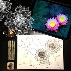 Day 25 #30ideas30days #illustration #flowers #blackandwhite #drawing #patternly.design #30ideias30dias #ilustração #flores #pretoebranco #desenhoobservacao #decolalab2016 #oficinaamandamol