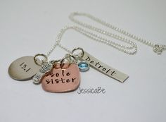 Running Marathon Race Commemoration Hand Stamped Necklace - Personalized for your race