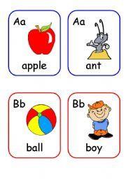 Alphabet Wall/Flashcards PDF | English, Alphabet cards and Texts