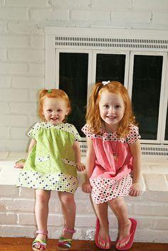 Ice Cream Dresses - love the sister dresses!
