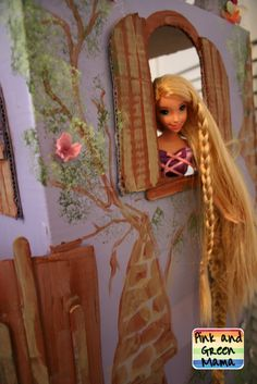 Cardboard Rapunzel Castle: Homemade Tangled Tower from Pink and Green Mama Blog