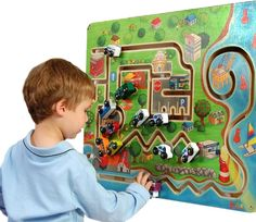 The City Transportation Wall Toy by Anatex has is a favorite for doctor's offices and other waiting rooms. Kids love transportation activity toys and Doctor's love it because kids are actually practic Childrens Rugs, Childrens Hospital, Transportation Activities, Starting A Daycare, Sensory Wall, Kids Daycare, Church Nursery, Activity Toys, Waiting Rooms