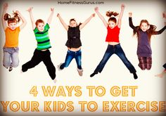 Do your kids exercise? Here are four things you can do to insure your kids exercise and grow up healthy and strong. Exercise For Kids, At Home Workouts, Healthy Living, Nutrition, Weight Loss, Motivation, Reading, Fitness, Inspiration