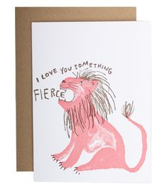 Catbird::VALENTINE'S DAY CARDS!::Fierce Love Card