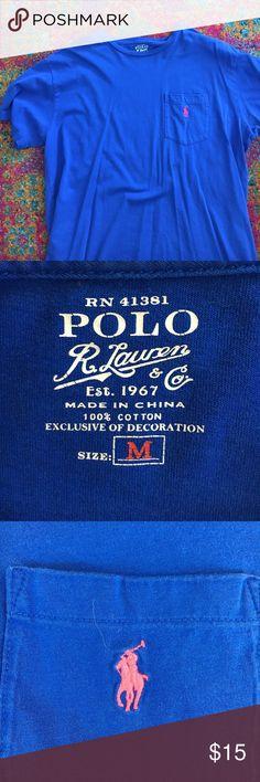 Blue Ralph Lauren Polo T Shirt Blue Ralph Lauren Polo Mens T Shirt Polo by Ralph Lauren Shirts Tees - Short Sleeve