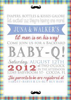 Sooo adorable! Baby Boy Shower Invitation $20.00