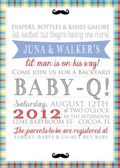 Sooo adorable! Baby Boy Shower Invitation $20.00