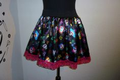MEXICAN TUTU SWING SKIRT RARA DRESS CUSTOM MADE SIZE 16 22 BOW GOTHIC HALLOWEEN | eBay