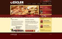 öziçler restaurant web design