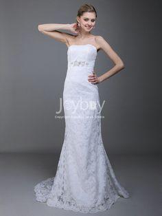 Strapless Lace Trimmed Sash 2013 Handmade White Wedding Dresses £164.99