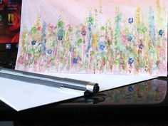 Wild pastel flowers greeting card by MrsDahlsPlace on Etsy, $3.75