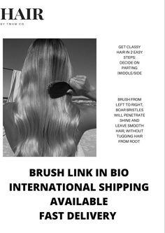 Boar Bristle Brush, Smooth Hair, Brushes, Straight Hair, Sleek Hair Updo, Coily Hair, Blush, Paint Brushes, Slicked Hair