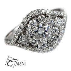 Un anello non è che una promessa di felicità.. Anello in diamanti, ct 1.22 tot € 3.350 #carinigioielli #weddinggown #bride #bridal #bridetobe #weddingday #bridesmaids #etsy #etsysuccess #luxury #weddings #jewelry #jewels #trendy #style #fancyjewelry  #fashionjewelry #jewelrydesign #italy #wedding #weddingplanner #matrimonio #sposa #anellofidanzamento #anellomatrimonio #fedenuziale