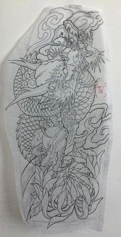 Trendy tattoo dragon design style ideas - Trendy tattoo dragon design style ideas Best Picture For tattoo ideen For Your Taste You are look - Japanese Tattoo Art, Japanese Tattoo Designs, Japanese Sleeve Tattoos, Dragon Tattoo For Women, Dragon Tattoo Designs, Tattoo Sleeve Designs, Dragon Tattoo Outline, Asian Tattoos, Trendy Tattoos