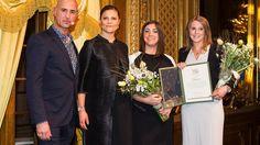 Victoria von Schweden ließ es sich nicht nehmen, an der Vergabe von Stipendien der Micael-Bindefeld-Stiftung teilzunehmen.
