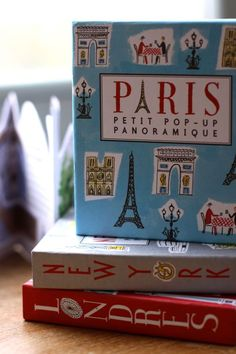 Pop up City Books. Paris. New York. London. Would make a fantastic gift for a traveling friend.