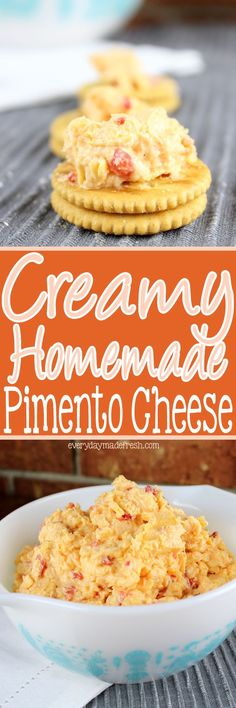 Creamy Homemade Pimento Cheese - Cheese Chips - Ideas of Cheese Chips - Nothing makes a sandwich better or the perfect cracker topping than my recipe for Creamy Homemade Pimento Cheese! Doritos, Sandwich Recipes, Appetizer Recipes, Snack Recipes, Cooking Recipes, Sandwich Ideas, Healthy Recipes, Delicious Recipes, Healthy Food