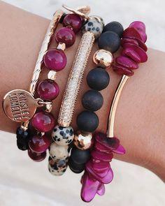 Kinsley Armelle jewelry - I love her druzy! Druzy Jewelry, Stone Jewelry, Beaded Jewelry, Jewelry Bracelets, Stacking Bracelets, Silver Bracelets, Gold Jewelry, Jewellery, Handmade Bracelets