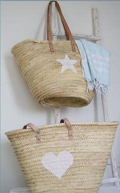 I Love Baskets * perfect for keeping gloves, hats, and other accessories, shopping or keeping knitting handy