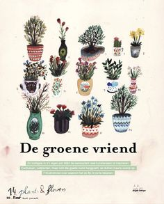 Plants & flowers by Angela Dalinger (Flow 1 - 2015, Dutch edition)