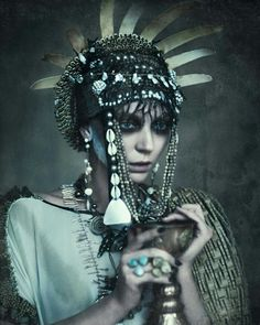 Spirit Queen, an exhibition that opened last week in Melbourne, is where photography, film and fashion come together in an exploration of spirituality and the relationship between femininity and the natural world. Headdress, Headpiece, Our Lady Of Sorrows, Queen Of Everything, Extreme Hair, My Art Studio, Mystique, Tribal Fusion, Headgear